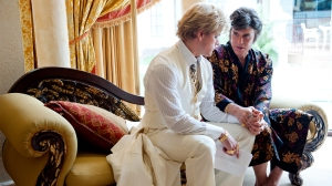 Michael Douglas & Matt Damon in a scene from Behind The Candelabra.